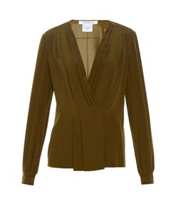 Givenchy | Pleated-Front Silk-Crepe Blouse