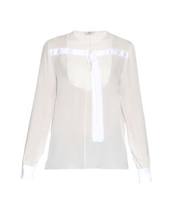Edun | Long-Sleeved Silk-Chiffon Blouse