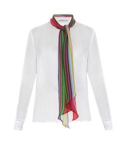 Mary Katrantzou | Folia Rainbow Scarf Silk-Chiffon Blouse