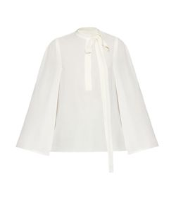 Valentino | Cape-Sleeved Georgette Blouse