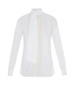 Valentino | Georgette-Panelled Cotton Blouse