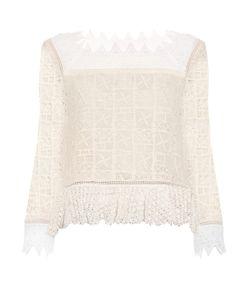 Rebecca Taylor | Crochet-Lace Square-Neck Top