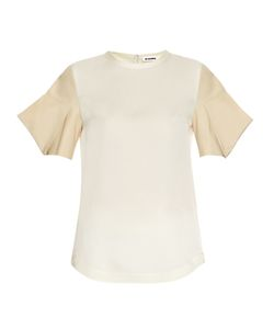 Jil Sander | Acorn Structured-Sleeve Silk-Satin Top
