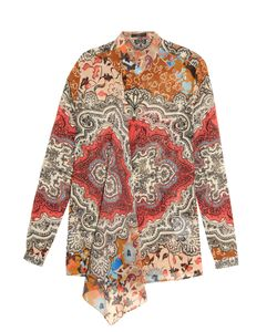 Etro | Carpet-Print Silk-Georgette Blouse