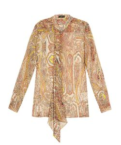 Etro | Decorative-Print Silk-Blend Georgette Blouse
