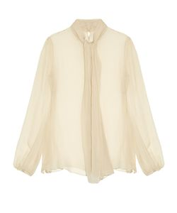 Alexander McQueen | Neck-Tie Long-Sleeved Silk Blouse