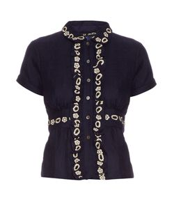 Jupe By Jackie   Aragall Embroidered Wool Blouse