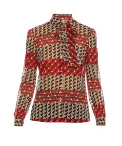 Red Valentino | Printed Silk-Blend Blouse