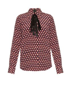 Marc Jacobs | Diamond-Print Crepe De Chine Shirt