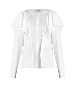 Lanvin   Ruffled Long-Sleeved Blouse