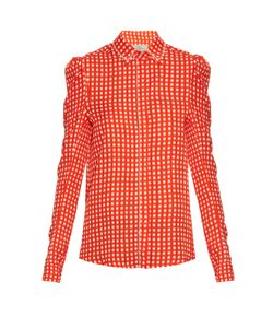Preen By Thornton Bregazzi | Ari Crystal-Embellished Gingham Shirt