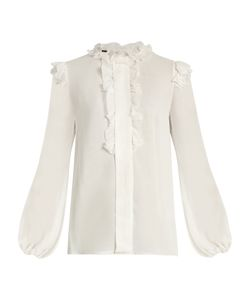 Giambattista Valli | Ruffle-Trimmed Silk-Georgette Blouse