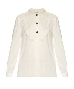Miu Miu | Crepe Shirt With Silk-Organza Trim
