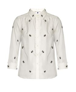 Jupe By Jackie   Villere Embroidered Silk-Twill Shirt