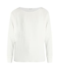 Vince | Ribbed-Cuff Crepe Top