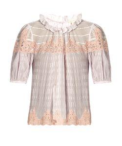 Rebecca Taylor | Macramé-Lace Panelled Silk Blouse