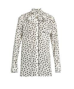 Dolce & Gabbana | Polka-Dot Print Silk Crepe De Chine Blouse
