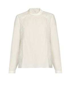Rebecca Taylor | Lace-Panel Silk Blouse