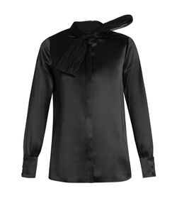 Saint Laurent | Silk And Tulle-Bow Shirt