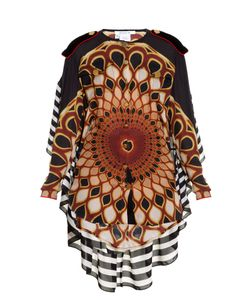 Givenchy | Optical Peacock-Print Georgette Blouse