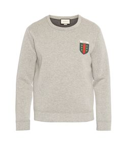 Gucci | Logo-Appliqué Crew-Neck Neoprene Sweatshirt
