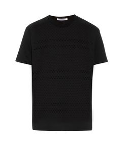 Givenchy | Laser-Cut Cross Cotton T-Shirt