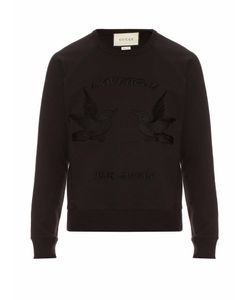 Gucci | Hummingbird-Appliqué Cotton Sweatshirt