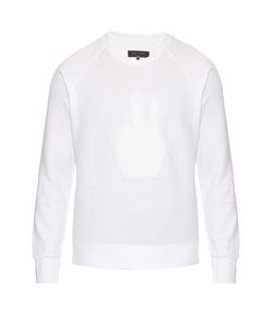 Rag & Bone | Peace-Appliqué Cotton Sweater