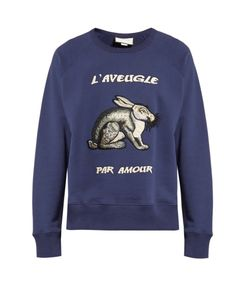 Gucci | Hare-Appliqué Cotton Sweatshirt