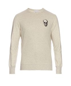 Alexander McQueen | Skull-Embroidered Jersey-Cotton Sweatshirt
