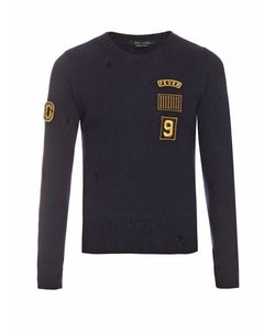 Marc Jacobs | Patch-Appliqué Crew-Neck Wool Sweater