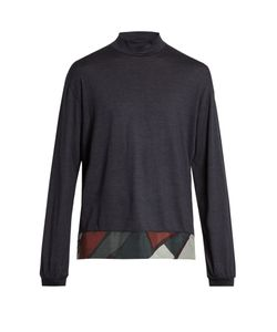 Kolor | Contrast-Panel Wool Sweater