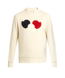 Moncler | Logo-Appliqué Cotton-Blend Jersey Sweatshirt