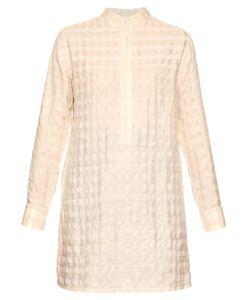 WALES BONNER | Amri Checked-Jacquard Silk Shirt