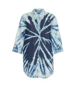 Raquel Allegra | Tie-Dye Cotton And Linen-Blend Shirt