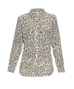 Equipment | Signature Cheetah-Print Silk Shirt