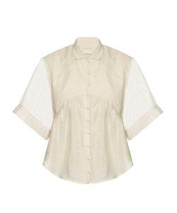 CECILIE COPENHAGEN | Carroll Short-Sleeved Cotton And Silk-Blend Shirt