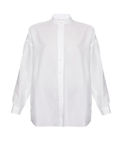 Helmut Lang | Open-Back Cotton-Twill Shirt