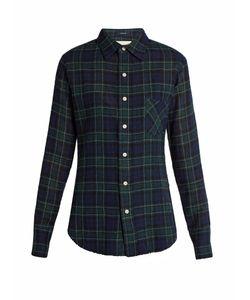 R13   Point-Collar Plaid Wool Shirt