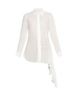 YOHJI YAMAMOTO REGULATION | Ruffle-Trimmed Twill Shirt