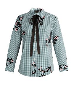 Marc Jacobs | -Flocked Gingham Blouse