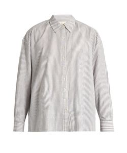 THE GREAT | The Slouchy Striped Cotton Shirt