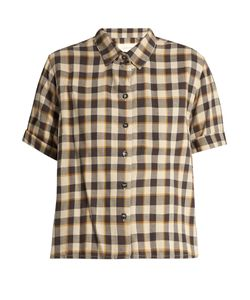 THE GREAT | The Bias Short-Sleeved Tartan Cotton Shirt