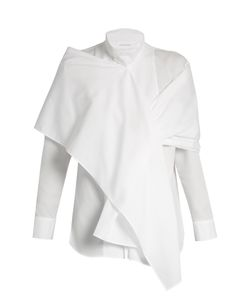 YOHJI YAMAMOTO REGULATION | Wraparound-Shawl Cotton Shirt