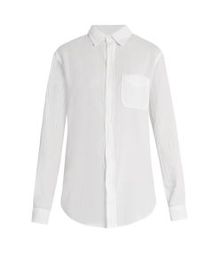 Current/Elliott | The Prep School Crinkled-Cotton Shirt