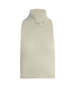 PALMER/HARDING | Roll-Neck Backless Cotton And Cashmere-Blend Top
