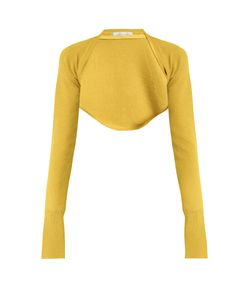 PALMER/HARDING | Open-Front Cropped Knit Top