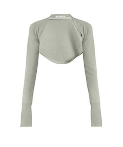 PALMER/HARDING | Open-Front Cropped Wool-Knit Top