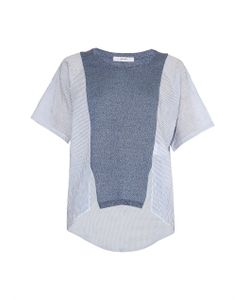 Julien David | Contrast-Panel Striped Top