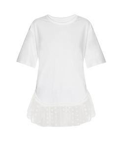 Chloe | Lace-Trimmed Short-Sleeved T-Shirt